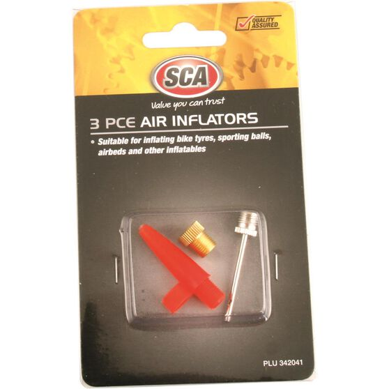 SCA Inflator Air Adaptors - 3 Piece, , scaau_hi-res