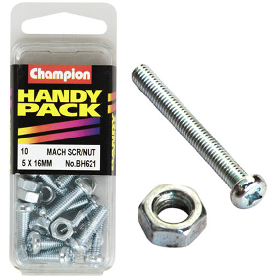 Champion Machined Screw / Nuts - 5mm X 16mm, BH621, Handy Pack, , scaau_hi-res