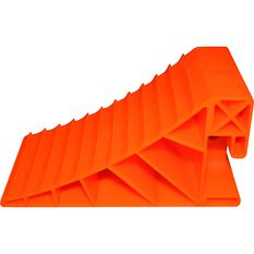 Explore Caravan Wheel Chock Orange Pair, , scaau_hi-res