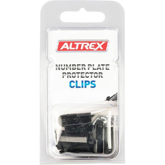 Altrex Number Plate Protector Replacement Clips Black Swivel 4 Pack, , scaau_hi-res