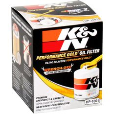 K&N Wrench Off Performance Gold Oil Filter  HP-1001 (Interchangeable with Z154), , scaau_hi-res