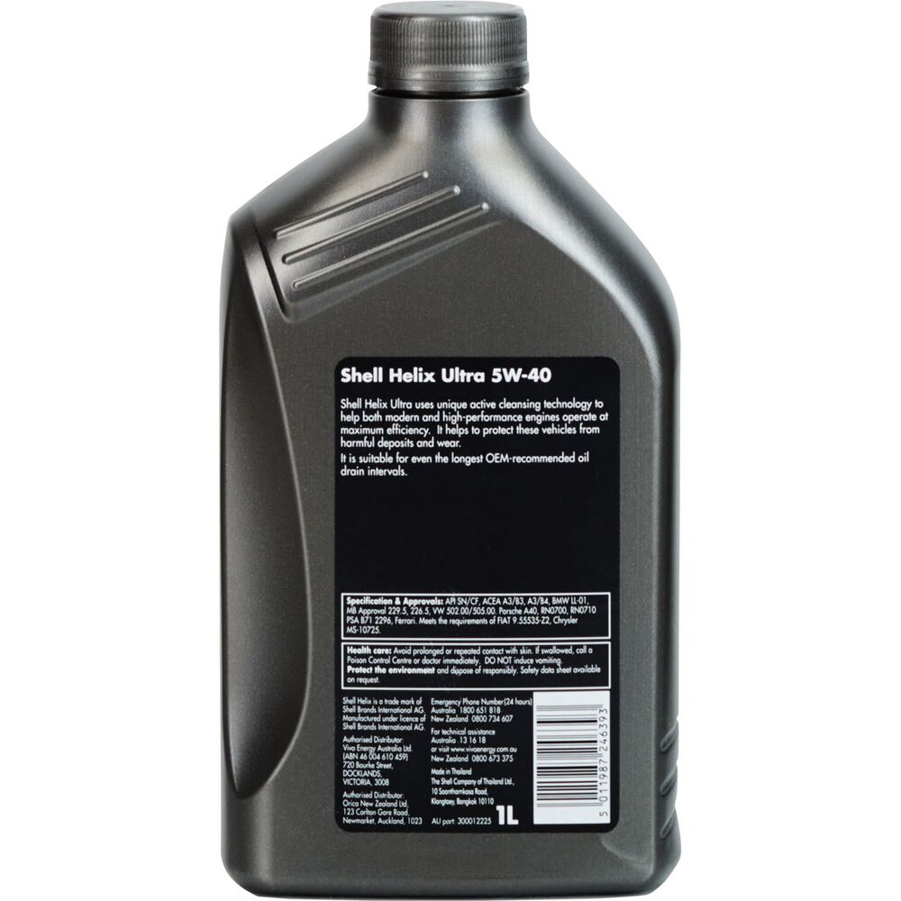 Full Synthetic Oil >> Shell Helix Ultra Engine Oil - 5W-40 1 Litre | Supercheap Auto