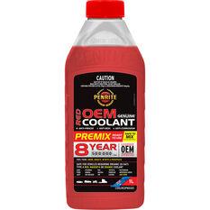 Penrite Red OEM Coolant Premix  1 Litre, , scaau_hi-res