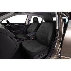 Cloud Premium Suede Seat Covers - Black, Adjustable Headrests, Size 30, Front Pair, Airbag Compatible, , scaau_hi-res