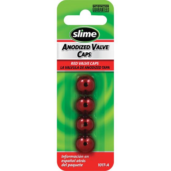 Slime Valve Caps - Anodized, Red, 4 Piece, , scaau_hi-res