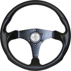Steering Wheel - Black 350mm Poly - Octane, , scaau_hi-res