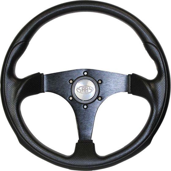 Steering Wheel - Black, 350mm, Poly - Octane, , scaau_hi-res