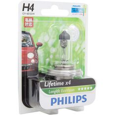 Philips LongLife EcoVision Headlight Globe - 12V, H4, 60/55W, , scaau_hi-res