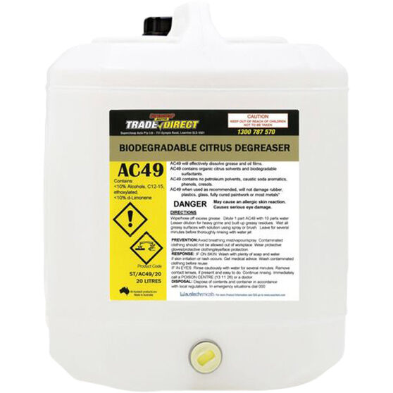 Trade Direct Water Based Citrus Biodegradable Degreaser - 20 Litre, , scaau_hi-res