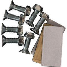 Pedal Pads - Aluminium/Black Rubber, Automatic, , scaau_hi-res