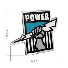 Port Adelaide AFL Supporter Logo - Lensed Chrome Finish, , scaau_hi-res