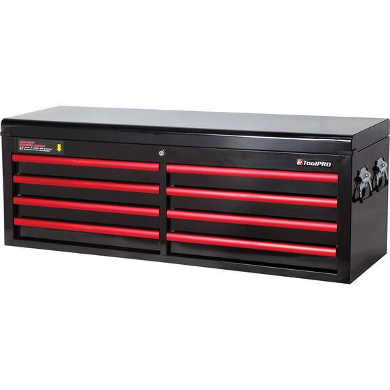 Toolpro Tool Cabinet 8 Drawer Top Chest Black 52 Inch