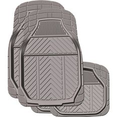 Ridge Ryder Deep Dish Car Floor Mats - Rubber, Charcoal, Set of 4, , scaau_hi-res