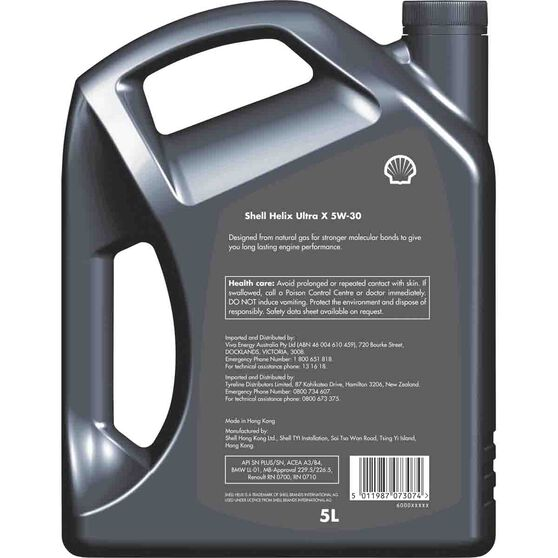 Shell Helix Ultra X Engine Oil 5W-30 5 Litre, , scaau_hi-res