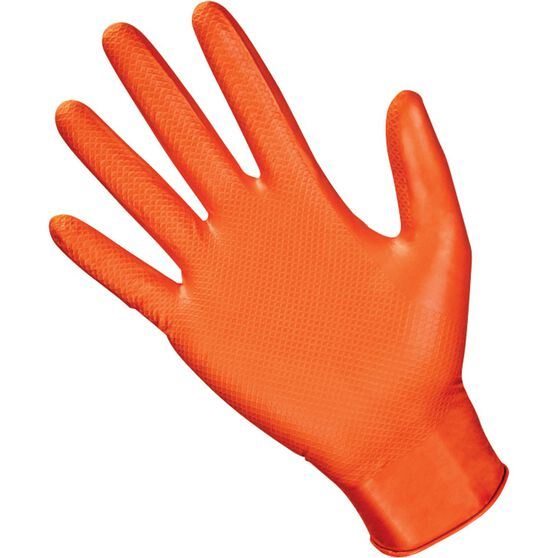 SAS Astro-Grip Nitrile Gloves - Orange, Medium, 100 Pieces, , scaau_hi-res