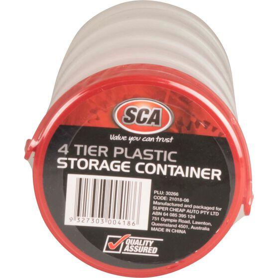 SCA Round Plastic Storage Container 4 Tier, , scaau_hi-res