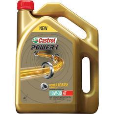 Castrol Power 1 Motorcycle Oil, 4 Stroke - 10W-30, 4 Litre, , scaau_hi-res