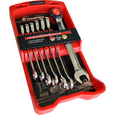 ToolPRO Spanner Set - Ratchet, 7 Piece, Imperial, , scaau_hi-res