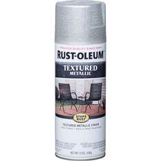 Rust-Oleum Aerosol Paint Textured Metallic - Silver, 340g, , scaau_hi-res
