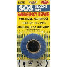 SOS Silicone Tape - Blue, 25mm x 3m, , scaau_hi-res