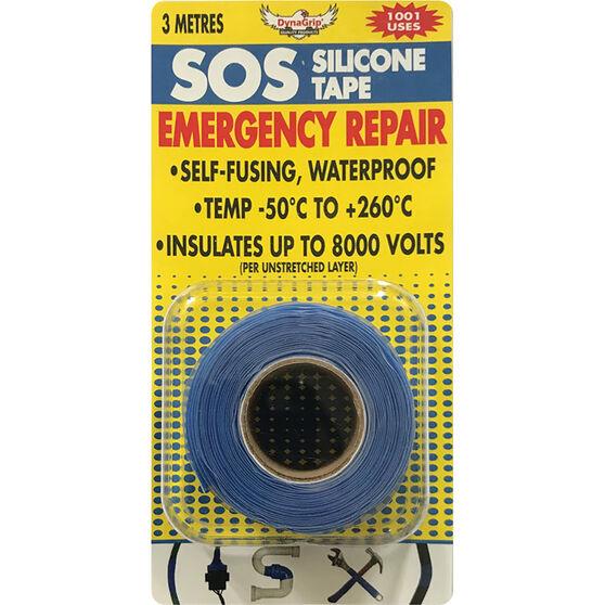 DynaGrip SOS Silicone Tape - Blue, 3m x 25mm, , scaau_hi-res