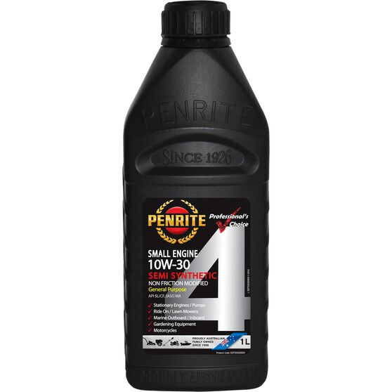Penrite Small Engine 4 Stroke Engine Oil - 10W-30, 1 Litre, , scaau_hi-res