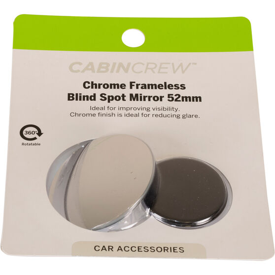 Cabin Crew Blind Spot Mirror - Chrome, 52mm, , scaau_hi-res