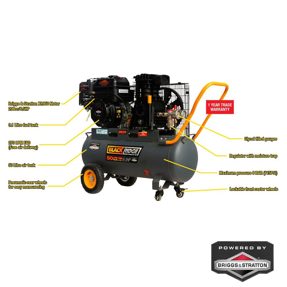 Blackridge belt drive air compressor
