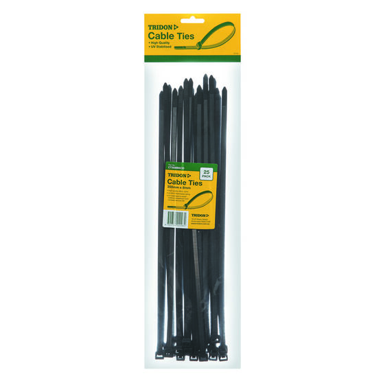 Tridon Cable Ties - 350mm x 8mm, 25 Pack, Black, , scaau_hi-res