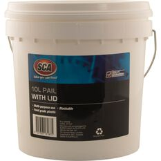 White Pail Bucket With Lid - 10L, , scaau_hi-res