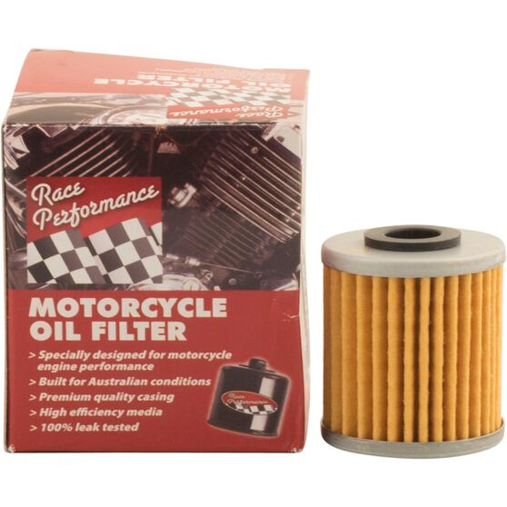 Race Performance Motorcycle Oil Filter - RP207, , scaau_hi-res