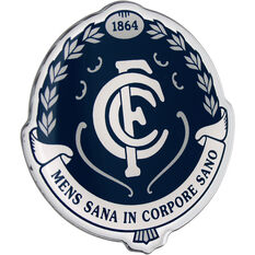 Carlton AFL Supporter Logo - Lensed Chrome Finish, , scaau_hi-res