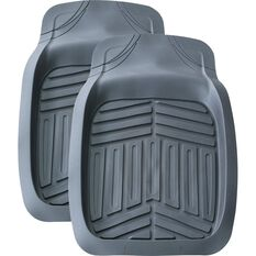 Ridge Ryder Deep Dish Car Floor Mats - Grey, Front Pair, , scaau_hi-res