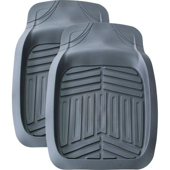 Ridge Ryder Deep Dish Car Floor Mats - Grey, Front Pair, , scaau_hi-res