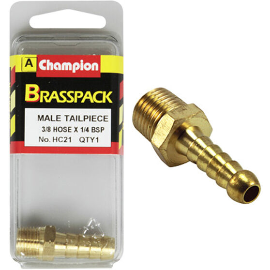 Champion Male Hose Barb - 3 / 8inch X 1 / 4inch, Brass, , scaau_hi-res