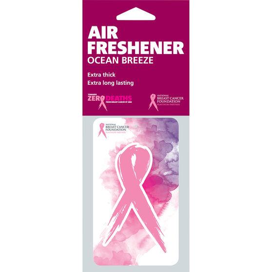Pink Ribbon Watercolors Air Freshener - Ocean Breeze, , scaau_hi-res
