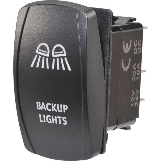 Narva Rocker Switch - 12-24V, LED, Blue, , scaau_hi-res