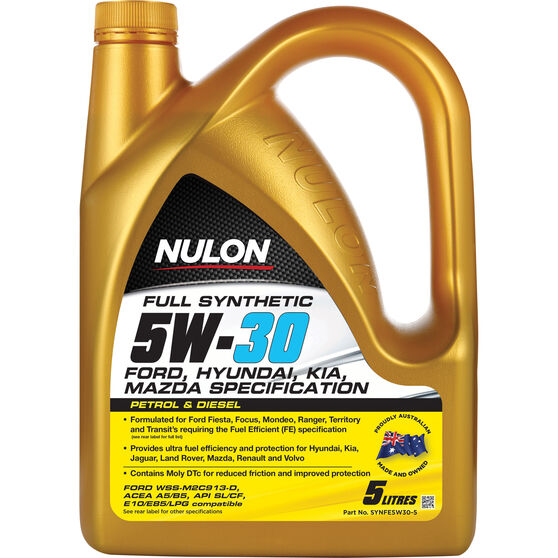 Nulon Full Synthetic Fuel Efficient Engine Oil - 5W-30 5 litre, , scaau_hi-res