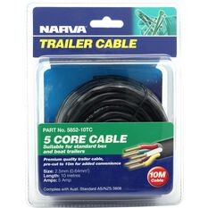 Trailer Cable, 5 Core, 2.5mm, 10M, , scaau_hi-res