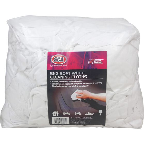 SCA Industrial White Cleaning Cloth 5kg, , scaau_hi-res