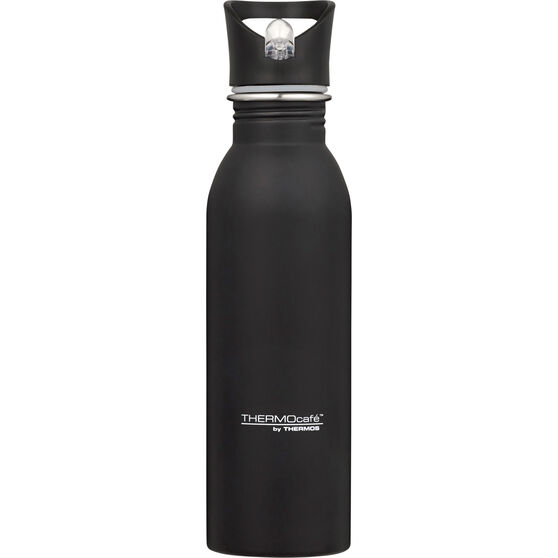 Thermos Thermocafe 700ml Drink Bottle - Black, Stainless Steel, , scaau_hi-res