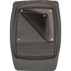 SCA Premium Combo Floor Mats - Removable Carpet, Grey, Set of 4, , scaau_hi-res