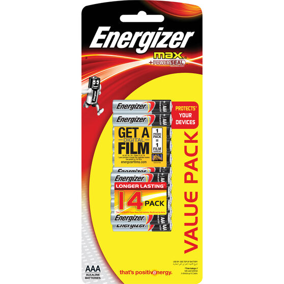 Energizer Max AAA Batteries - 14 Pack, , scaau_hi-res