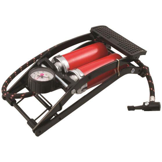 SCA Foot Pump, Double Barrel, With Gauge, , scaau_hi-res