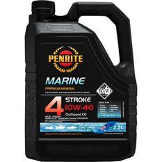 Penrite 4 Stroke Outboard Oil - 10W-40, 2.5 Litre, , scaau_hi-res