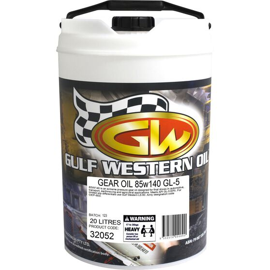 Gulf Western Gear Lube Gear Oil - 20 Litre, 85W-140, , scaau_hi-res