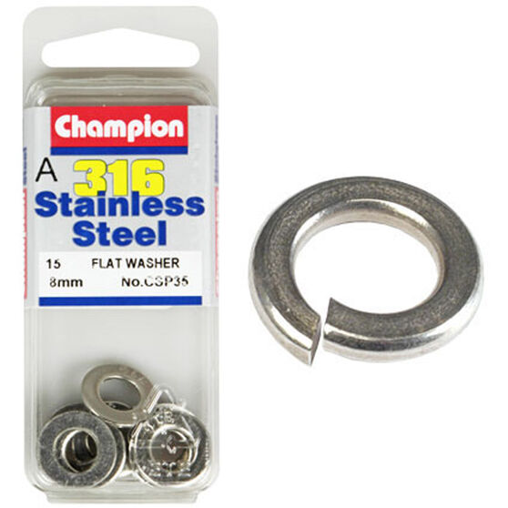 Champion Flat Washers - 8mm 8mm, , scaau_hi-res