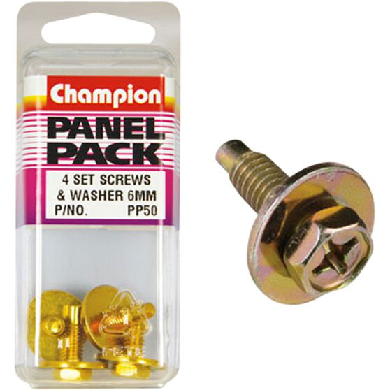Champion Hex Self Tapping Screw - M16 X 18, PP50, Panel Pack, , scaau_hi-res