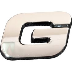 SCA 3D Chrome Badge Letter G, , scaau_hi-res