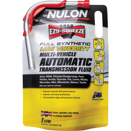 Nulon EZY-SQUEEZE Low Viscosity Multi-Vehicle Automatic Transmission Fluid 1 Litre, , scaau_hi-res